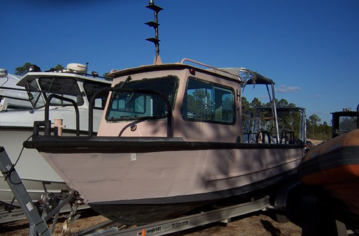 <strong>24 PBI Aluminum Workboat </strong>24&#39; PBI Aluminum workboat. Vessel is in good shape and is set up for twin outboards.