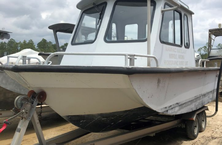 <strong>2000 Sea Ark Little Giant </strong>2000 Sea Ark Little Giant cabin powered by a single Honda 130 Outboard. Vessel 245